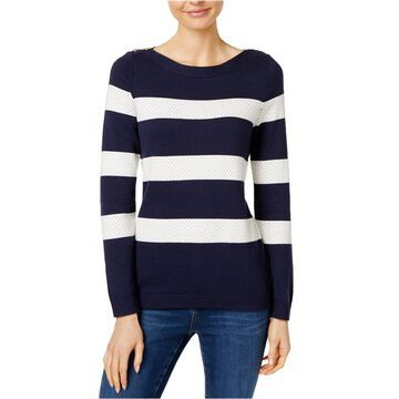 Charter Club Womens Stripe-Stitch Pullover Sweater