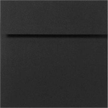 7 x 7 Square Envelopes - Midnight Black (1000 Qty.)