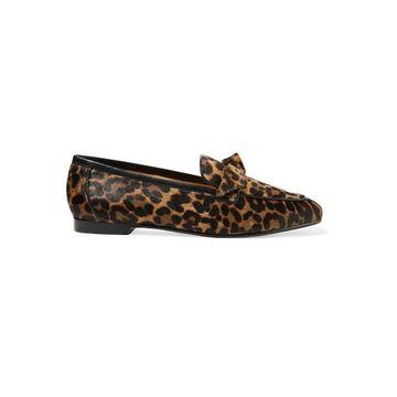 Alexandre Birman - Becky Bow-embellished Leopard-print Calf Hair Loafers - Leopard print