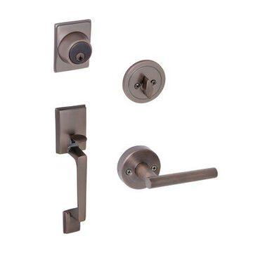 Design House 581918 Moderno 2-Way Adjustable Eastport Leverset, Brushed Bronze