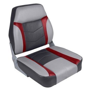 Wise 3300-841 Commander Series High Back Seat, Marble/Dark Red/Charcoal