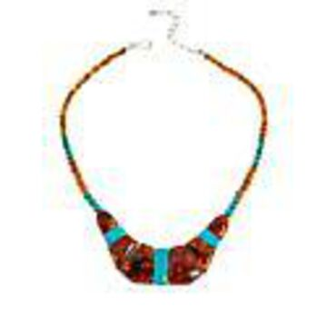 Mine Finds by Jay King Gallery Collection Amber and Azure Peaks Turquoise Necklace