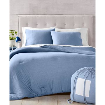 Martha Stewart Collection Essentials Jersey 3-Pc. Twin Comforter, Created for Macy's