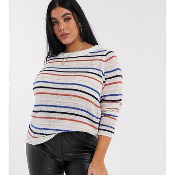 Junarose stripe sweater in multi