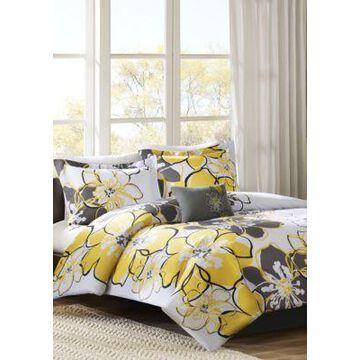 Mi Zone Allison Duvet Cover Set - Yellow - -