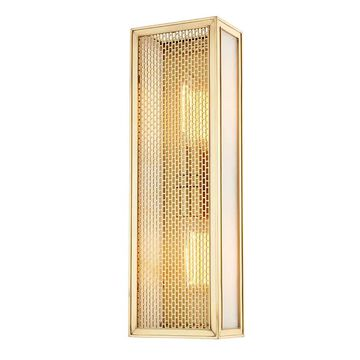 "Hudson Valley Ashford 2-Light 18"" Wall Sconce in Aged Brass"