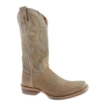 Twisted X Boots Men's MRAL009 Stonewashed Camel Bull Hide/Camel Leather