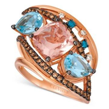 Le Vian Crazy Collection Multi-Gemstone (4-1/6 ct. t.w.) & Diamond (1/2 ct. t.w.) Ring in 14k Rose Gold