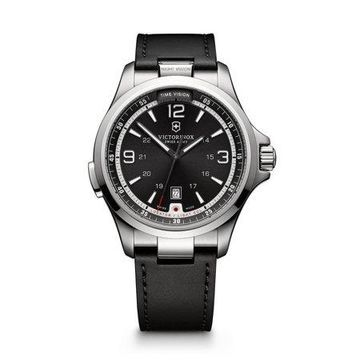 Victorinox Men's Swiss Army Night Vision Dark Grey Dial Watch 241570