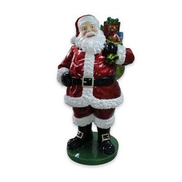 Northlight 63-Inch Standing Santa with Presents Christmas Decoration