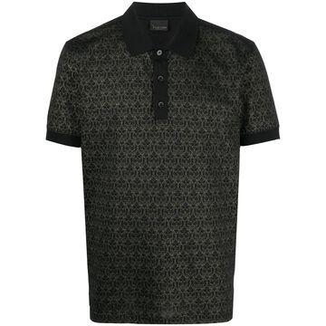 jacquard effect polo shirt