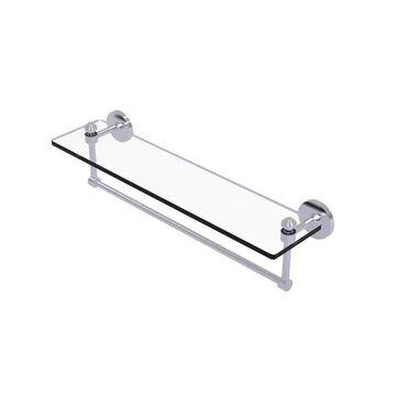 Allied Brass Southbeach Satin Chrome 1-Tier Brass Wall Mount Bathroom Shelf | SB-1TB/22-SCH