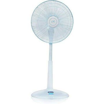 Sunpentown 14-inch Remote Control Standing Fan White