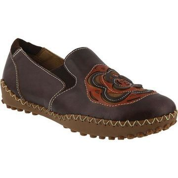 L'Artiste by Spring Step Women's Sandee Slip-On Brown Leather