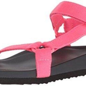 Madden Girl Women's Cricket Flat Sandal, Pink, 8 M US
