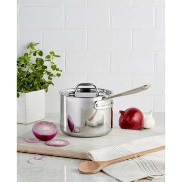 All-Clad Stainless Steel 2 Qt. Covered Saucepan