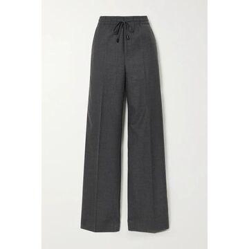 Maison Margiela - Wool-blend Flannel Wide-leg Pants - Dark gray