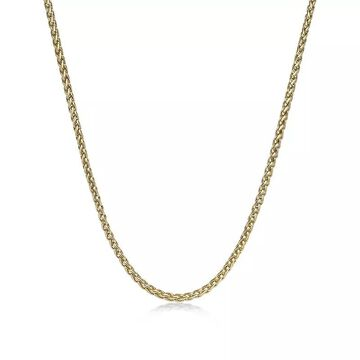 """Men's LYNX Stainless Steel Wheat Chain Necklace, Size: 22"""", Yellow"""