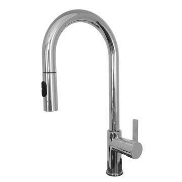 Franke Rigo Stain Nickel 1-Handle Pull-down Kitchen Faucet