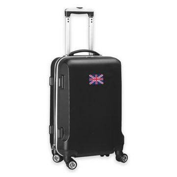 Denco Mojo England Flag 21-Inch Hardside Spinner Carry-On Luggage in Black