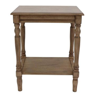 Decor Therapy Sahara Wood End Table in Brown | FR8711