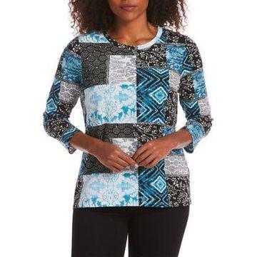Rafaella Women's Modal Patchwork Print Top -