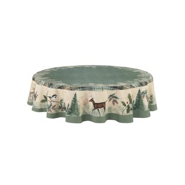 Laural Home Woodland Forest Table Cloth 70 Round