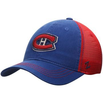 Montreal Canadiens Zephyr NHL Riptide Slouch Trucker Adjustable Hat - Navy/Red