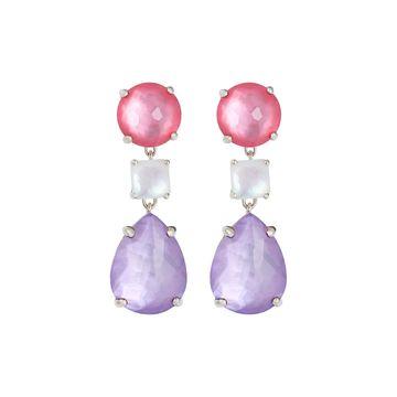 Wonderland 3-Drop Earrings in Primrose