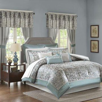 Home Essence Isabella Traditional Paisley 24 Pieces, With Comforter Sham Decorative Pillow Fitted Sheet Flat Sheet
