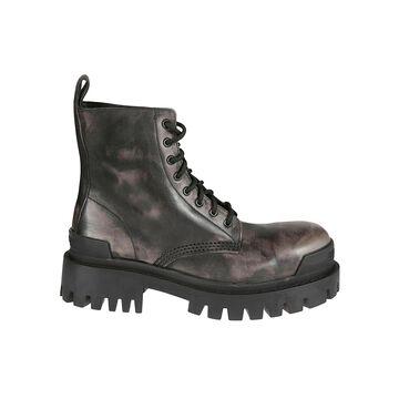 Balenciaga Aged Effect Strike Boots
