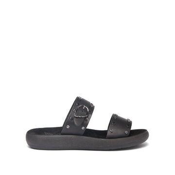 Ancient Greek Sandals - Preveza Leather Sandals - Womens - Black
