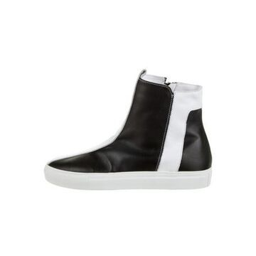 Leather High-Top Sneakers White