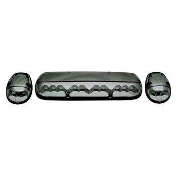 IPCW LEDR-302S Platinum Smoke LED Cab Roof Light with Chrome Base - 3 Piece