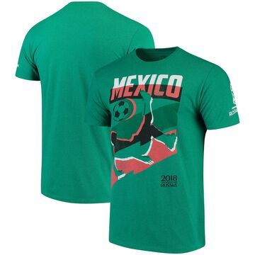 Mexico National Team Jagged Line T-Shirt Heathered Kelly Green