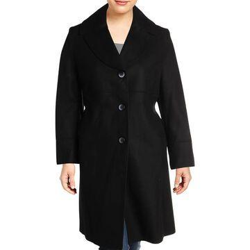 Jones New York Womens Plus Walker Coat Winter Wool