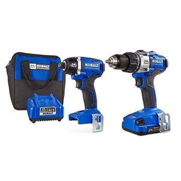 Kobalt 24V MAX Brushless 2 Tool Combo Kit #0672827