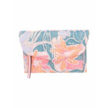 Floral Clutch Bag Pink