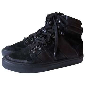 The Kooples Black Leather Trainers