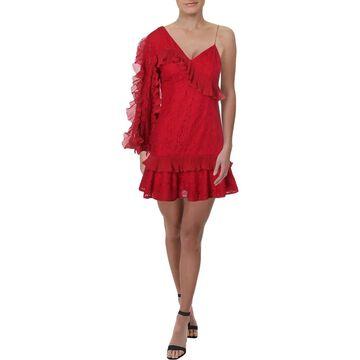 Keepsake Womens Party Dress Lace Ruffled