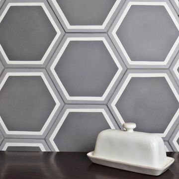 SomerTile 7.875x9-inch Cement Hex Holland Strait Cement Floor and Wall Tile (12 tiles/5.05 sqft.)