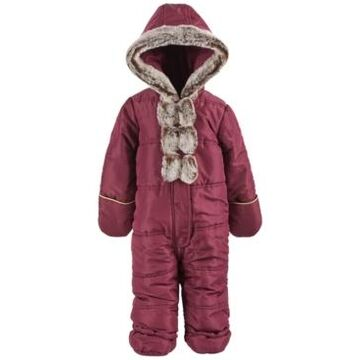 First Impressions Baby Girls Faux-Fur Bow Snowsuit, Created for Macy's