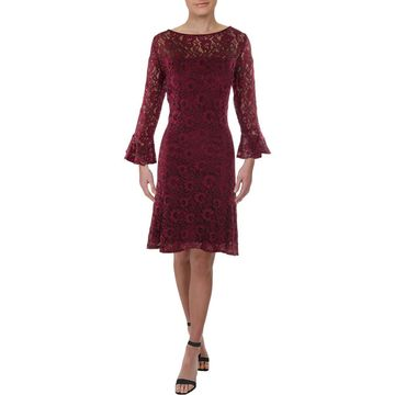 American Living Womens Kintara Lace Knee-Length Cocktail Dress