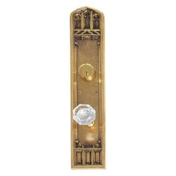 Oxford Single Deadbolt Door Set, Highlighted Brass, 3-3/8