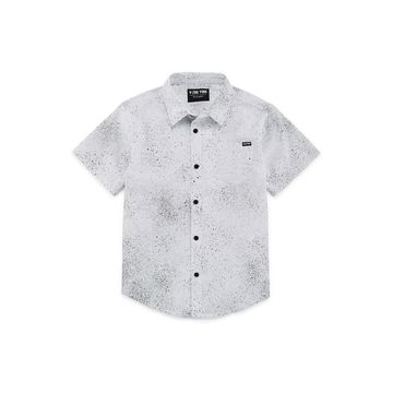Zoo York Boys Short Sleeve Button-Front Shirt Husky