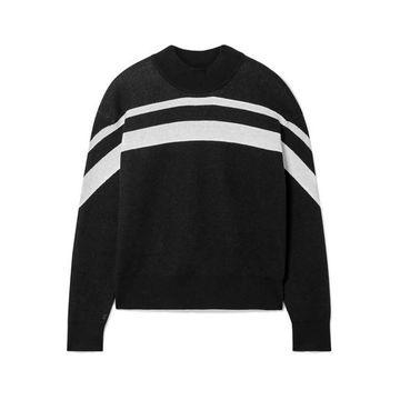 ATM Anthony Thomas Melillo - Striped Cotton-blend Sweater - Black