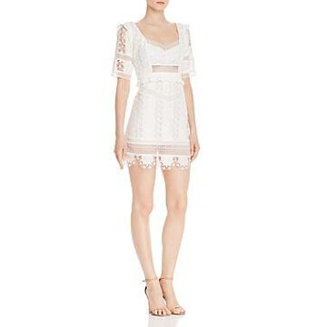 For Love & Lemons Amandine Lace Mini Dress