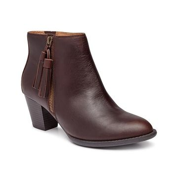 Vionic Women's Casual boots CHLT - Chocolate Madeline Leather Boot - Women