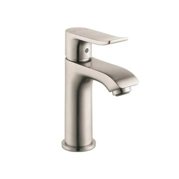 Hansgrohe Metris Brushed Nickel 1-Handle Single Hole WaterSense Bathroom Sink Faucet with Drain   31088821