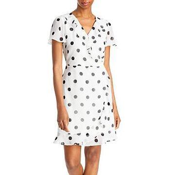 Karl Lagerfeld Paris Faux Wrap Dress